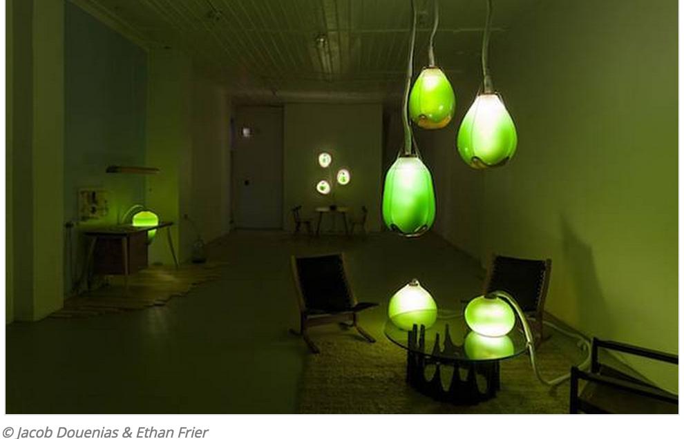 Living Things' Edible Blue-Green Algae Lights Illuminate & Heat Building Simultaneously