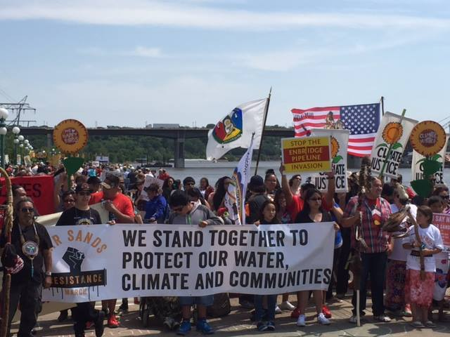 Over 5,000 Protest in Twin Cities at Historic 'Tar Sands Resistance March'