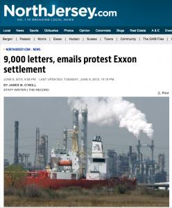 NJ-Exxon Settlement Headline by NorthJersey.com