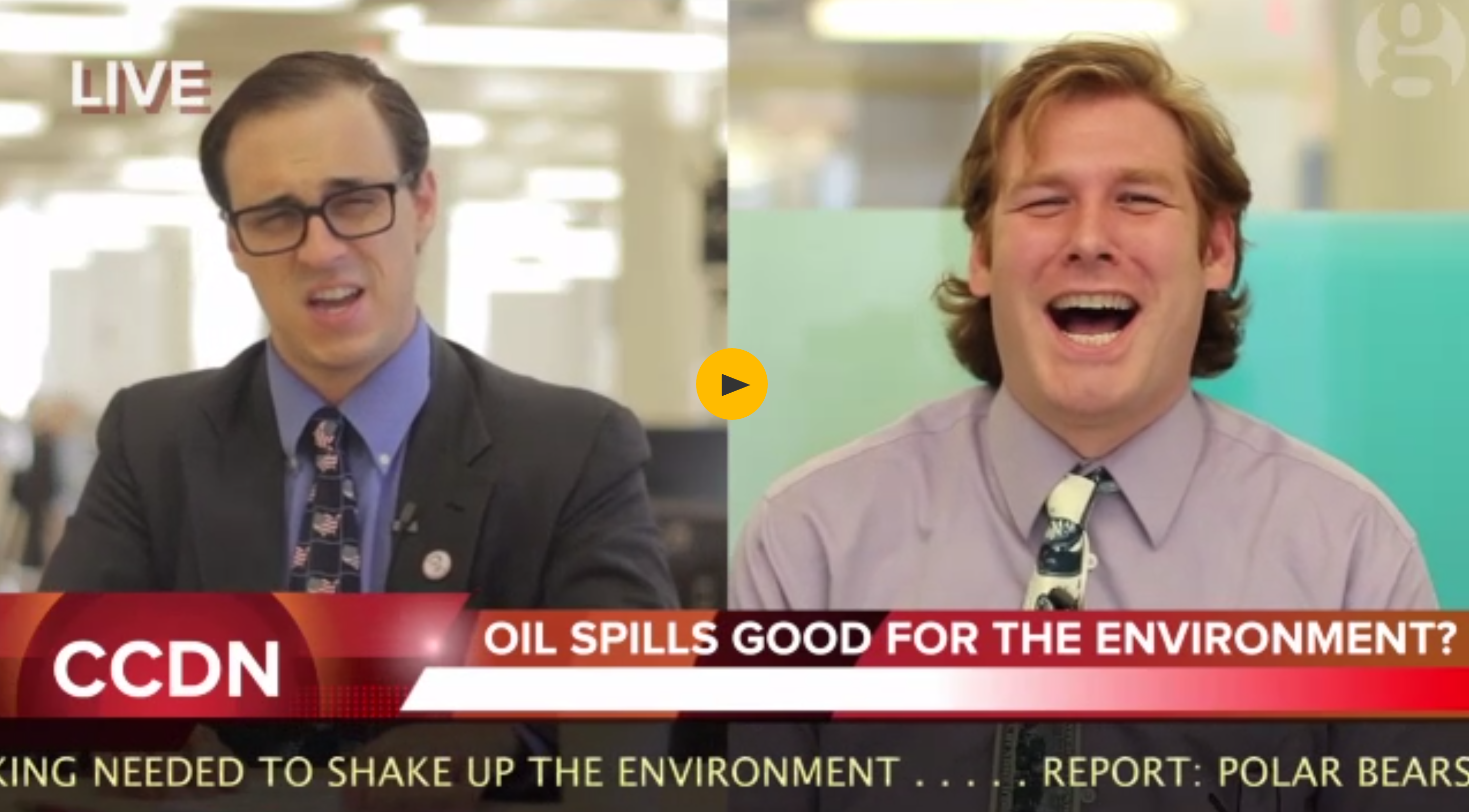 Hilarious Climate Satire Video by Guardian: 'Oil Spills Actually Totally Good For Animals'
