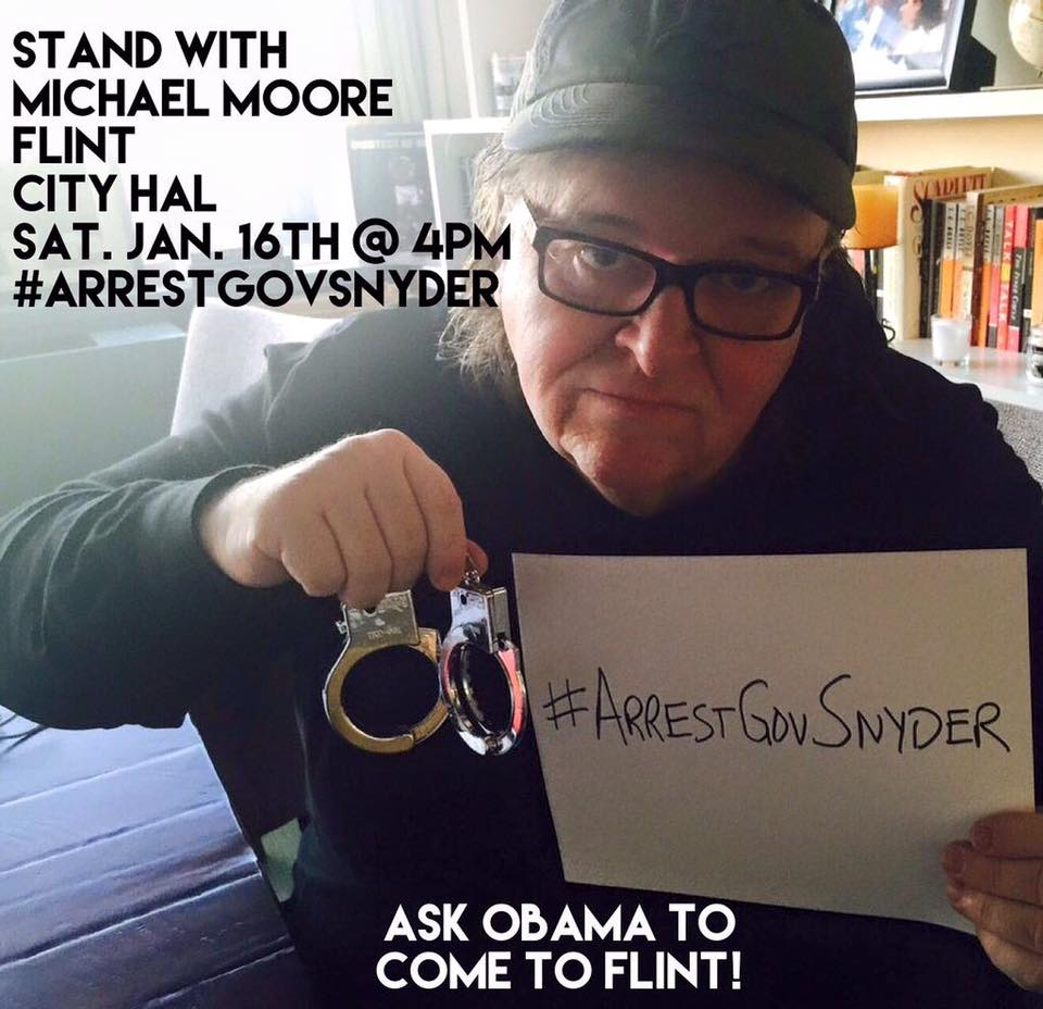 Michael Moore Petition For Arrest of Gov. Snyder Over Flint Water Crisis Growing Like Wildfire