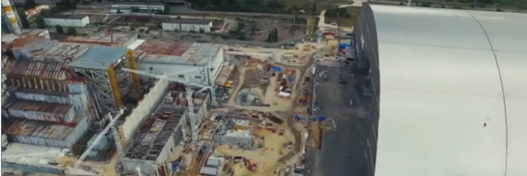 Eerie Drone Footage Shows New Chernobyl Sarcophagus Nearing Completion