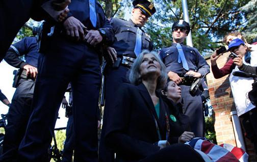 Jill Stein Handcuffed at Hofstra Debate