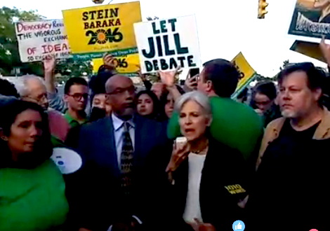 Green Party Candidate Jill Stein Escorted From Presidential Debate By Police