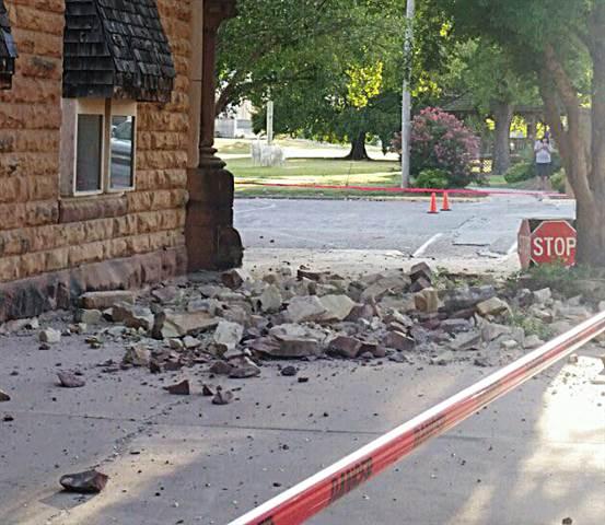 Oklahoma Frackquake Damage -- Photo: Cori Duke -- KJRH