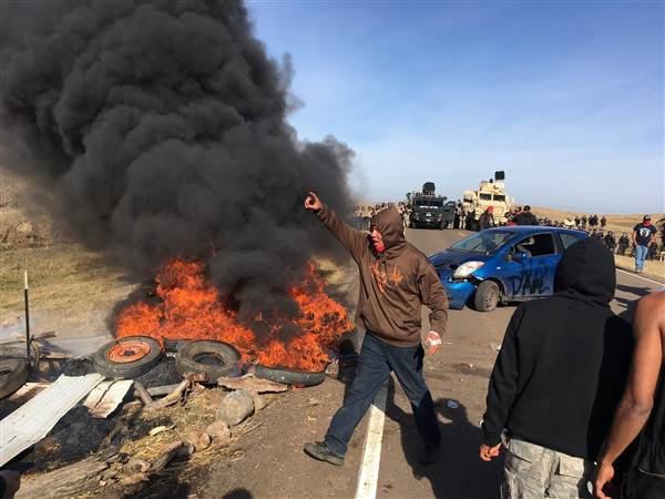 Tanks, Militarized Police, Move in on Native Americans in DAPL Protest Gone Haywire
