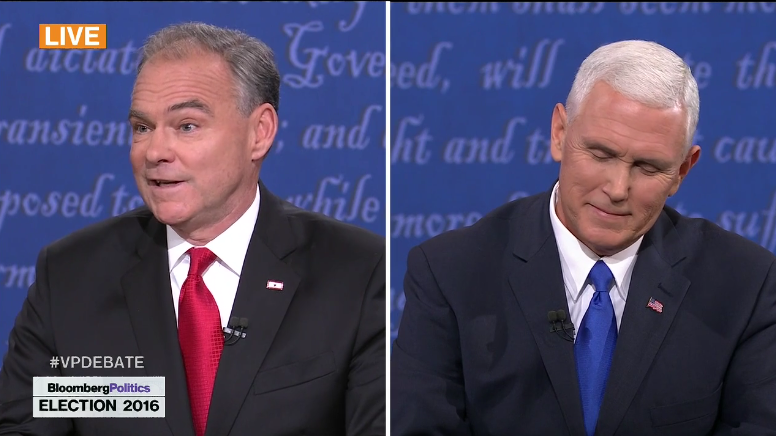 POLL CLOSED: VIEW RESULTS: Who Won The 2016 Vice Presidential Debate? Tim Kaine or Mike Pence?