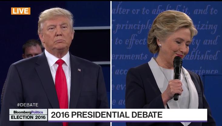 Hillary Clinton vs Donald Trump -- Second Presidential Debate -- Screenshot