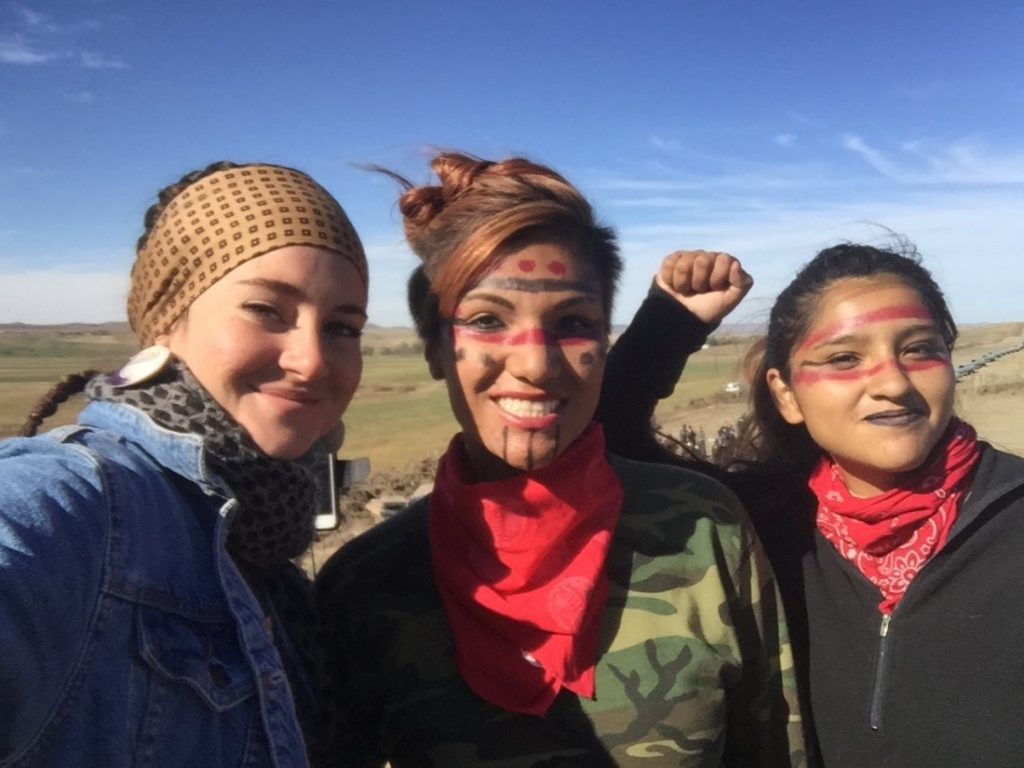 Shailene Woodley With Native American 'Protectors'