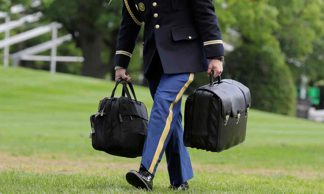 Interception! Trump Just Picked Off The Nuclear Football: The Ominous Black Briefcase That Follows POTUS Everywhere