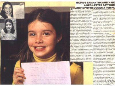 Samantha Smith's Letter to President Andropov