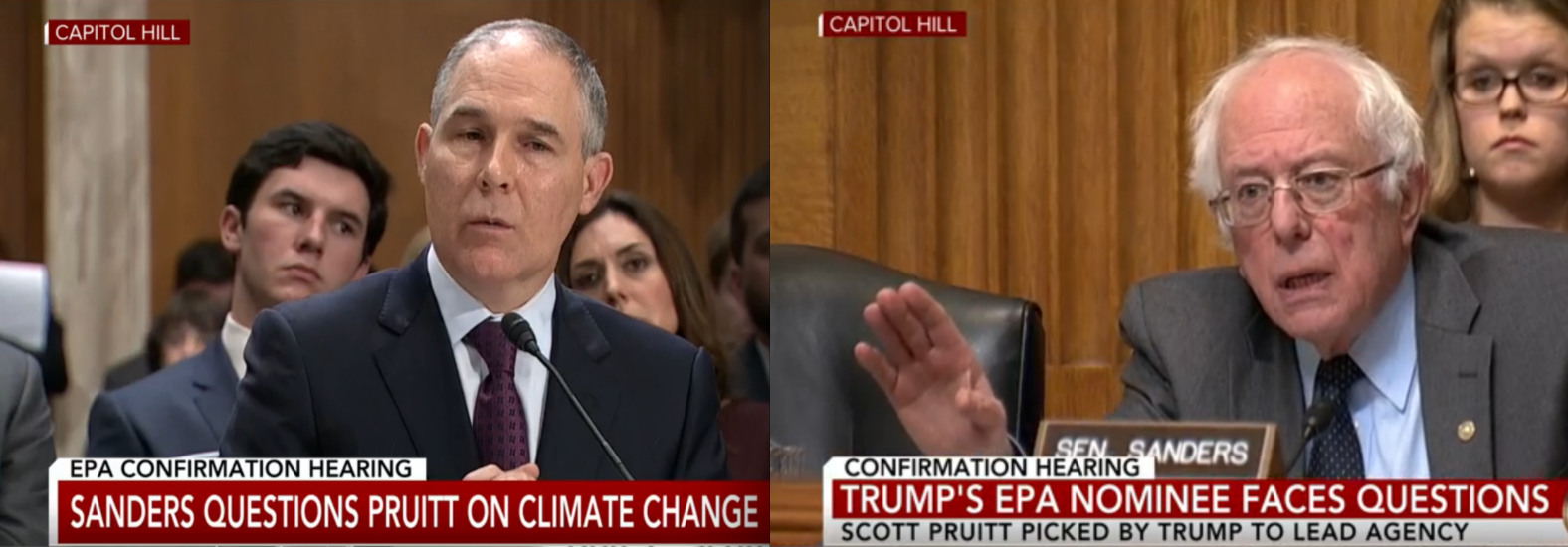 Video: Bernie Sanders Blasts Trump's EPA Pick on Climate Change in Senate Confirmation Hearing
