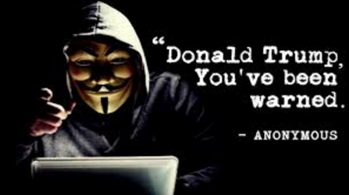 "Hacktivists Group Anonymous Warns It Will Expose Trump For ""Some really heavy shit"""