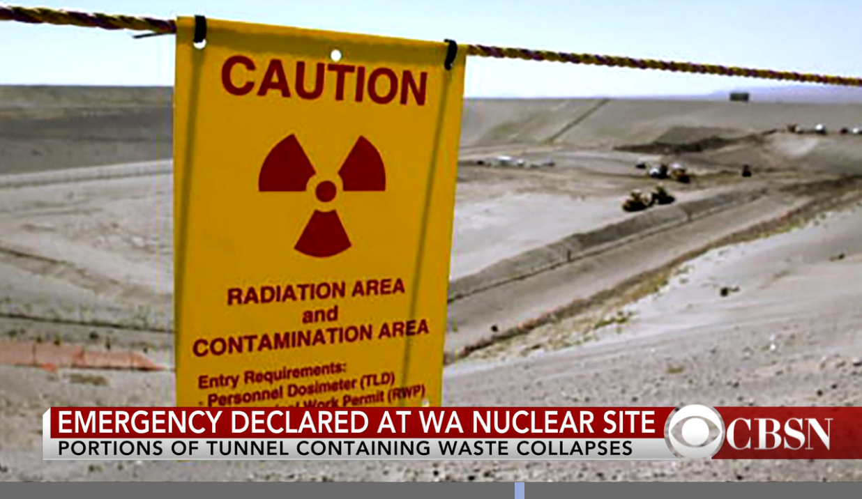 Evacuation: Emergency Declared at Hanford After Tunnel Collapses onto Nuclear Waste