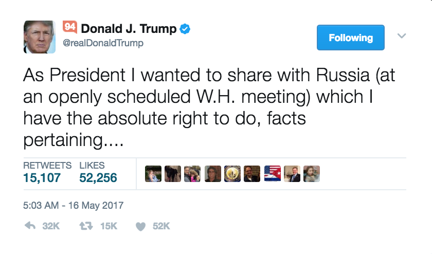 Trump Insinuates Washington Post is Straight-up REAL NEWS With Russia Classified Info Tweets