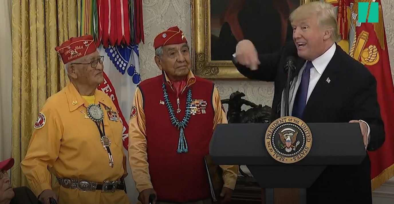 Sioux Leader Tells Trump, 'Leave The Office You Bought and Take Your Swamp Things With You'