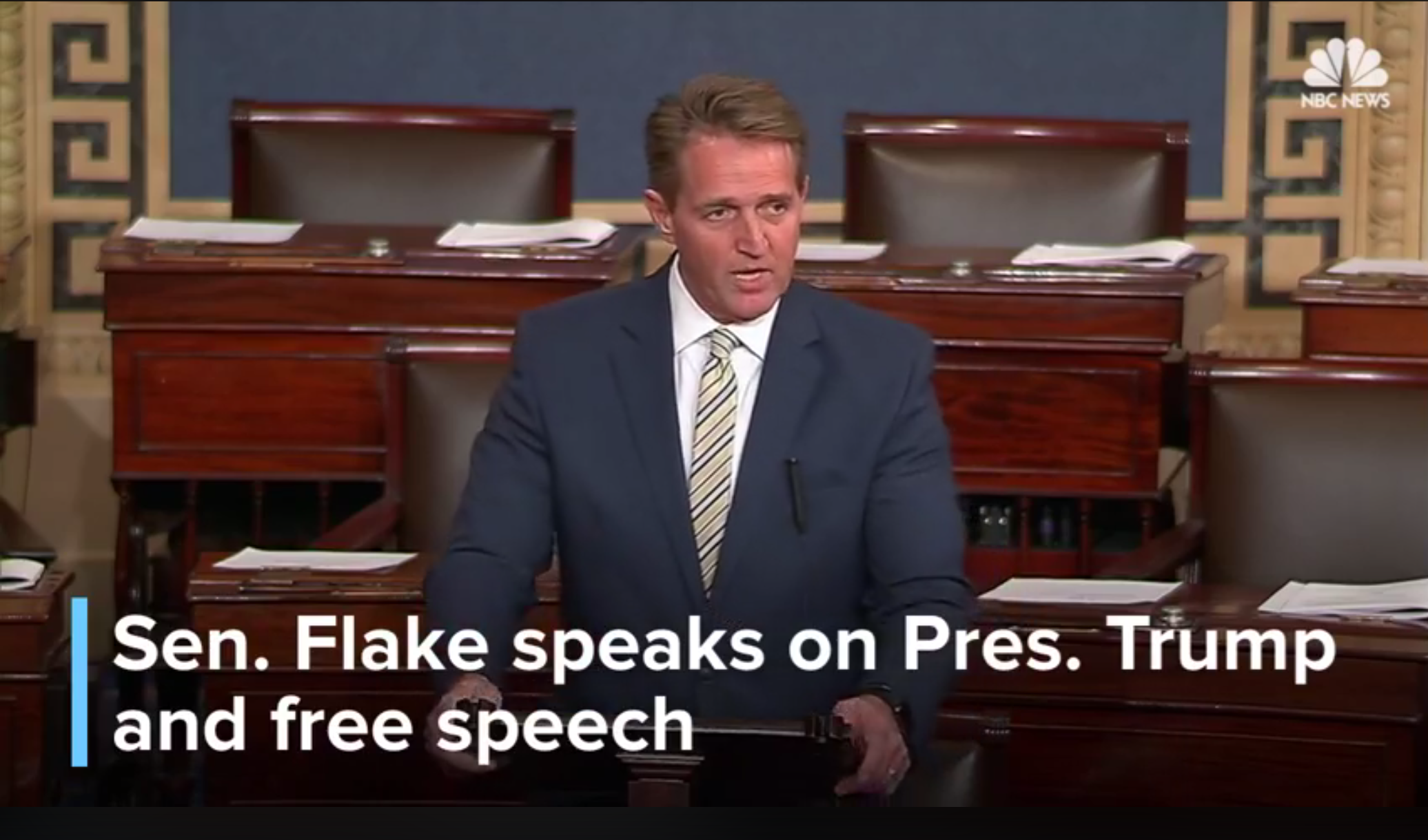 In Historic Speech, Jeff Flake Compares Trump to Stalin, Blasting Trump's Lies, While Defending the Press and First Amendment