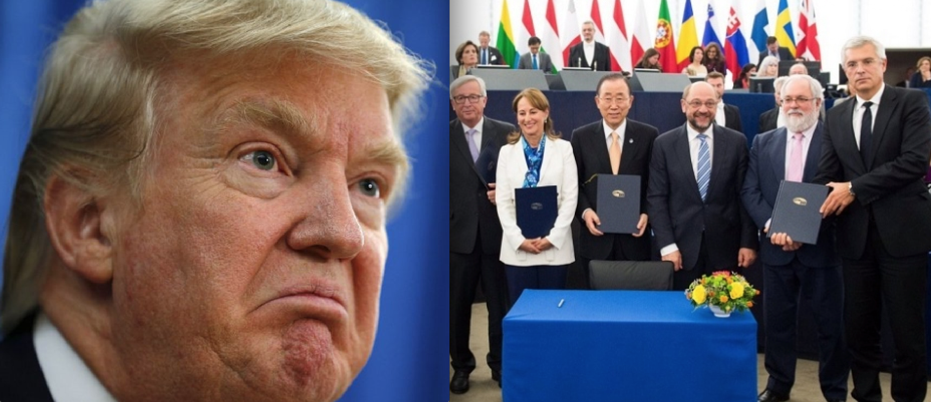 EU Leaders Put Foot Down over Climate, Telling Trump: 'No Paris Agreement, no trade agreement'
