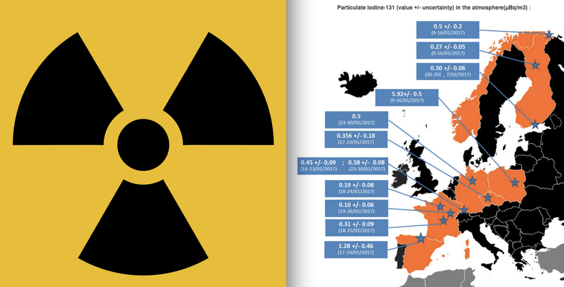 Still-Unidentified Nuclear Accident Sends Radioactive Iodine 131 Drifting over Europe